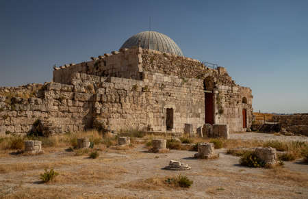 A picture of the Umayyad Monumental Gateway in Amman.