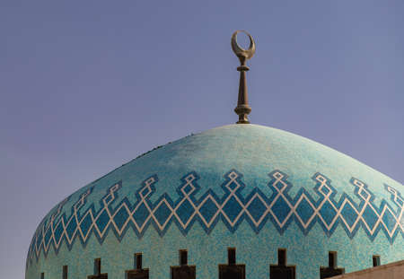 A picture of the King Abdullah Mosque in Amman.