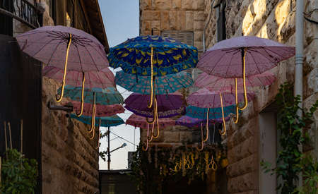 A picture of decorations in the Rainbow Street (Amman).
