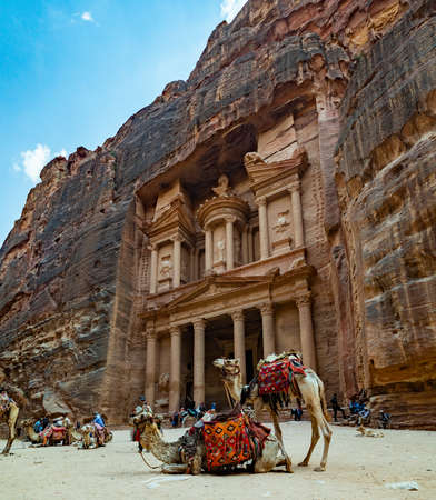 A picture of The Treasury (Petra). Editorial