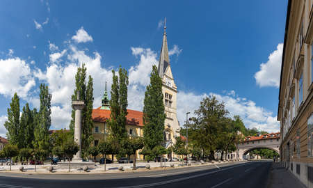 A panorama picture of the Church of St. James.