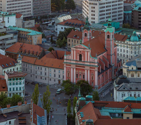 A picture of the Franciscan Church of the Annunciation seen from above. Archivio Fotografico