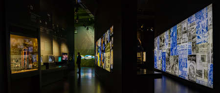 A panorama picture of the interior of the FC Porto Museum. 新聞圖片