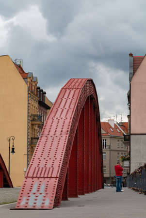 A picture of the Biskupa Jordana Bridge, in Poznan.