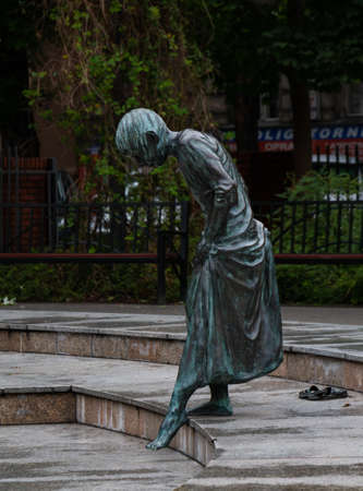 A picture of one of the statues in the Zbigniew Zakrzewski Gardens, in Poznan. 新聞圖片