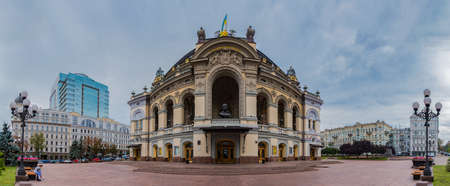 A panorama picture of the National Opera of Ukraine, in Kiev.