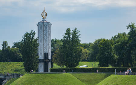 A picture of the Holodomor Genocide Memorial, in Kiev. 版權商用圖片 - 159073545