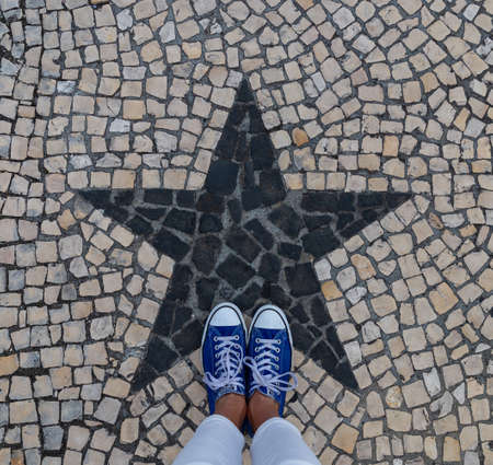 A picture of the traditional Portuguese street pavement (Ponta Delgada).