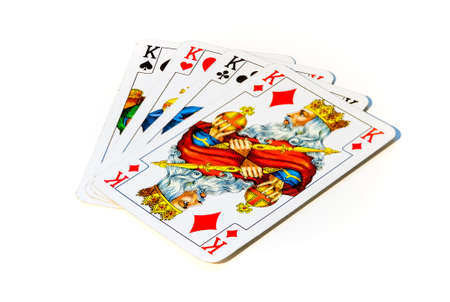A picture of four kings, i.e. playing cards. 版權商用圖片
