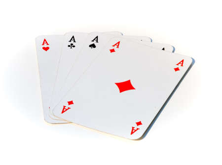 A picture of four aces, i.e. playing cards.