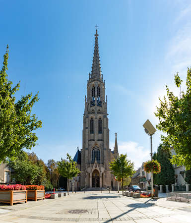 A picture of St. Mary's Church, in Katowice.
