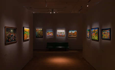 A picture of the The Gallery of Non-professional Art, a permanent exhibition of the SIlesian Museum.