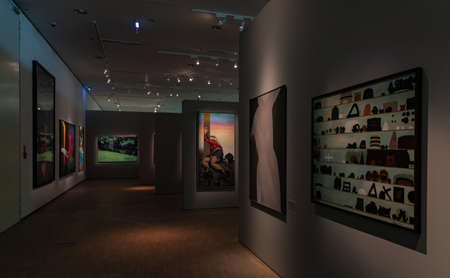 A picture of the Gallery of Polish Art after the year 1945, a permanent exhibition of the SIlesian Museum. Editorial