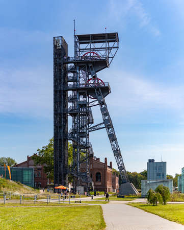 A picture of the Tower Shaft - commonly known as Warszawa II - in Katowice.