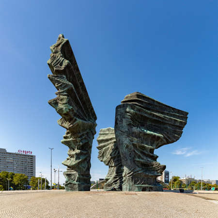 A picture of the Silesian Insurgents' Monument, in Katowice. Editorial