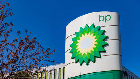 A picture of the BP on a gas station sign.