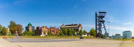 A panorama picture of the Silesian Museum as seen from the outside. Editorial