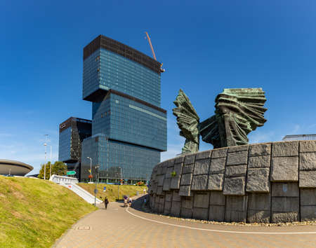 A picture of the Silesian Insurgents' Monument and the .KTW building complex.