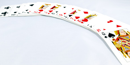 playing cards on white background photo