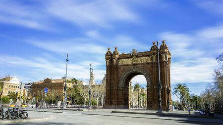 Arc de Triomphe in Barcelona on a sunny day photo