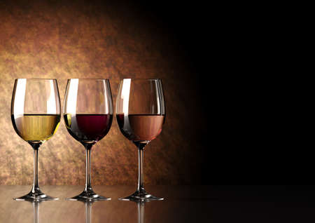 white wine glass: glass of wine  red, white and ros