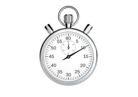 Stopwatch only on white background