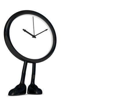 stopped: stopped clock, with legs and feet