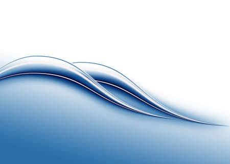 water theme: abstract composition with waves of blue-white gradient background