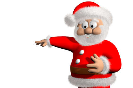 nicholas: character of Santa Claus on a white background