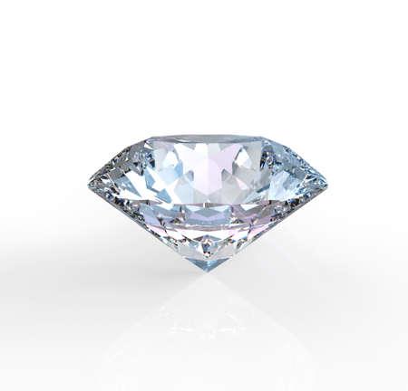 solitaire diamant op een witte achtergrond Stockfoto