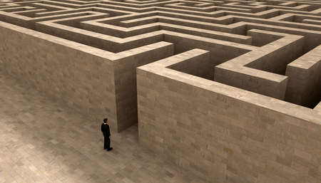 man entering the labyrinth