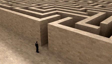man het invoeren van het labyrint