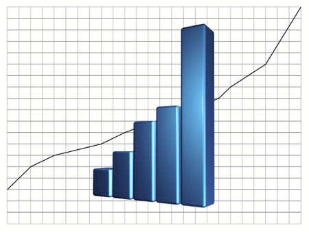 3d rendering of bar graph