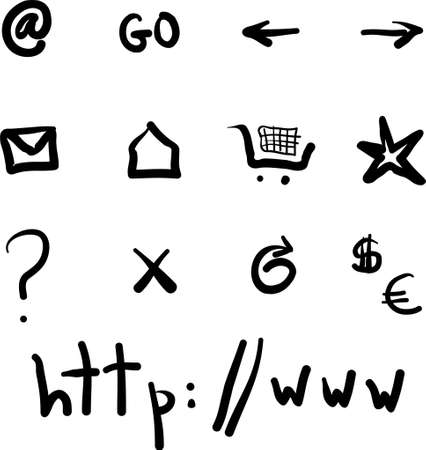 Internet Symbols Stock Vector - 681423