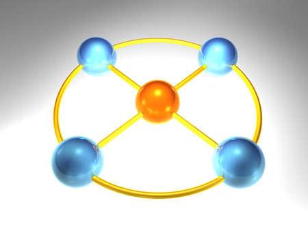 node: 3d network node