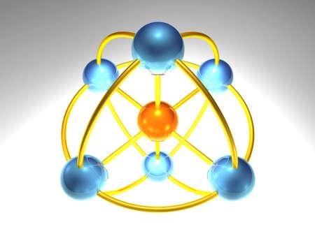 sph�rische Netzwerk-Knoten  Lizenzfreie Bilder