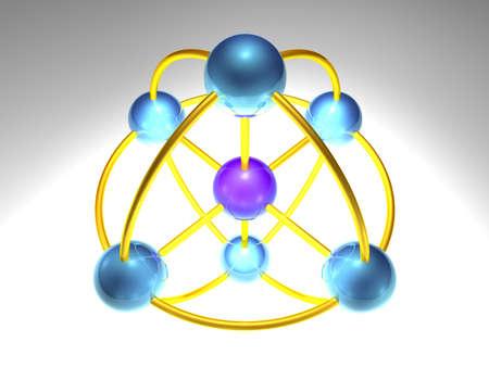 spherical network node photo