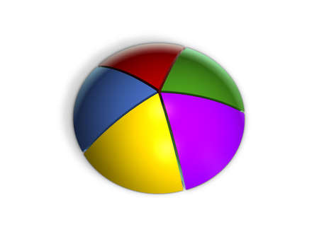 3D Pie Graph in Perspective Stock Photo - 998474