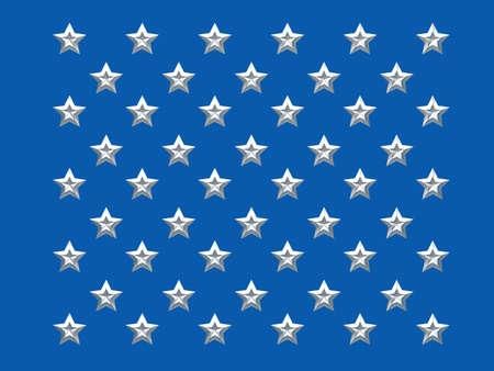 continente americano: Las 50 estrellas de la bandera americana