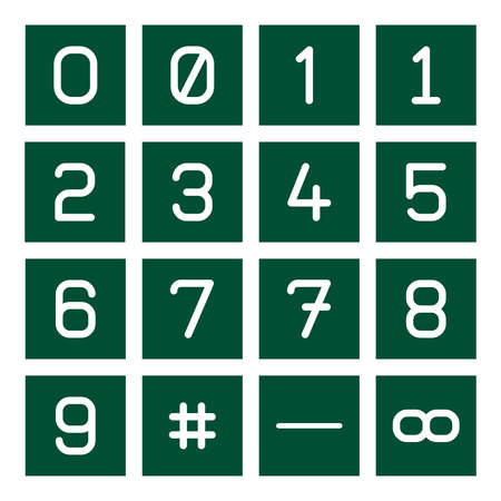 16 9: 16 icon set of mathematical numbers including cardinal sign, fraction sign and infinite sign