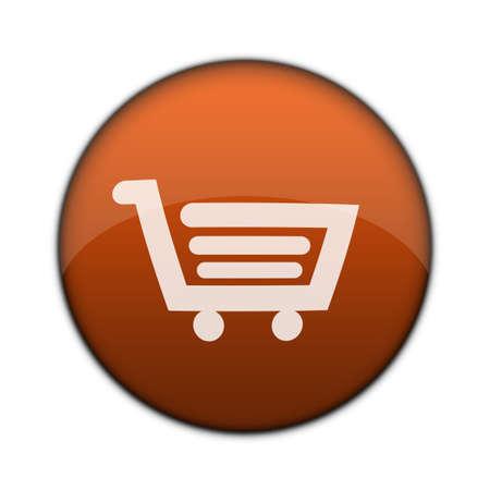Internet  Online-Anwendungen Warenkorb 3D-Taste  Lizenzfreie Bilder
