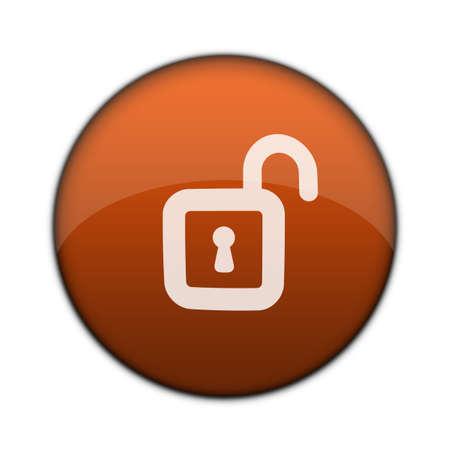 Internet/Online Applications Unlock 3D Button Stock Photo - 3203870