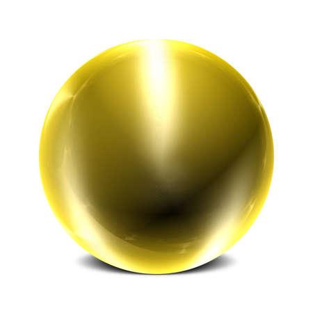 esfera de cristal: Tridimensional �mbito de la superficie reflectante con 3 puntos de luz