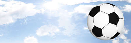 Foot Ball Illustration Set Against Clear Blue Sky illustration