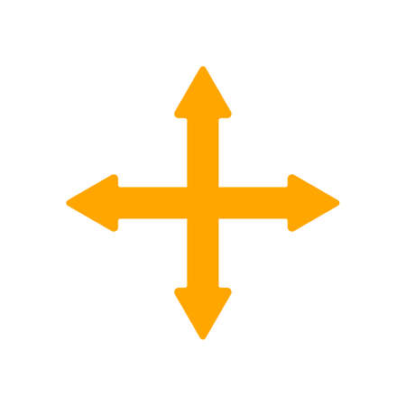 south east: 4 Crossed Arrows Pointing North, South, East and West