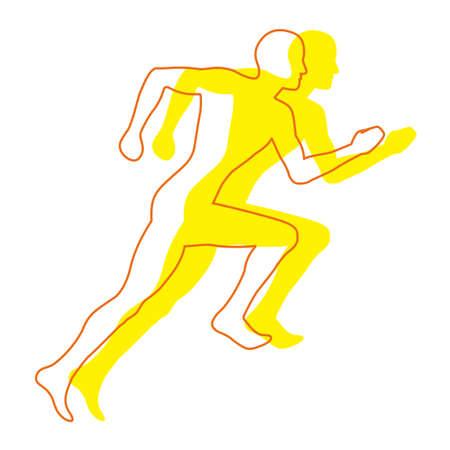 Man Jogging Illustration Stock Illustration - 3316754