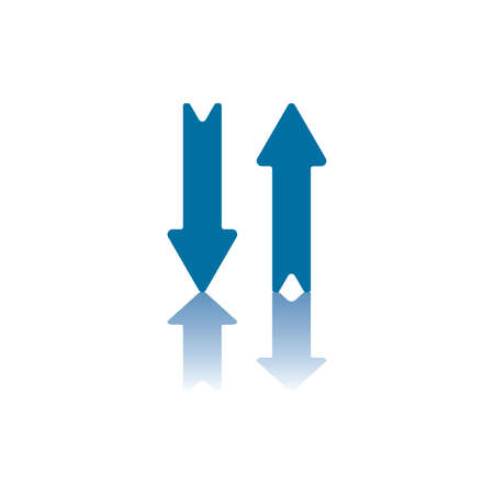pointing up: Two Parallel Vertical Arrows, Right One Pointing Up, Left One Pointing Down