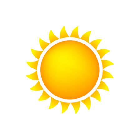 Sun Icon With Flames, Color, Gradient OrangeYellow Illustration