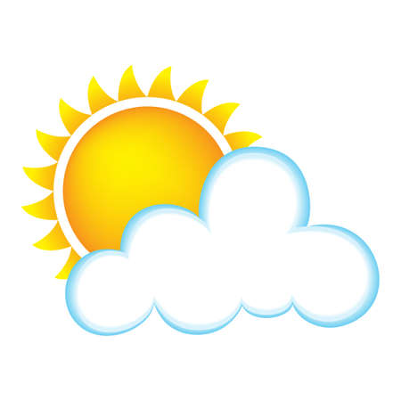Weather Icon Representing Sunny Weather With Clouds photo