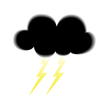 dark cloud: Ilustraci�n de la nube oscura con el icono debajo de los rel�mpagos